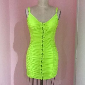 Neon yellow/green dress